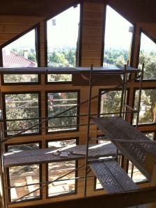 Colocación de los ventanales de salón